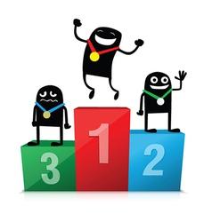 Winner podium cartoon vector image