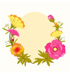 Springtime colorful flower background vector
