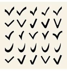 Set of 25 different check marks vector
