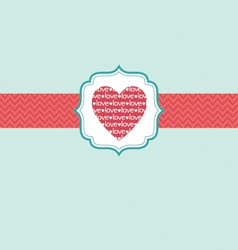 Love in heart ornate frame vector
