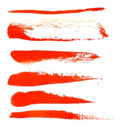 Watercolor design element red brush for the vector