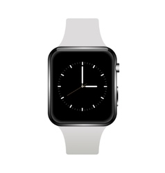 Modern realistic smart watch on white vector