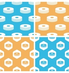 Cd stack pattern set colored vector