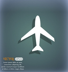 Airplane sign plane symbol travel icon flight flat vector