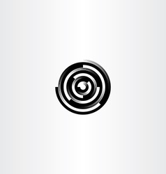 Technology black circle abstract logo icon vector