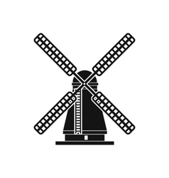 Windmill icon simple style vector