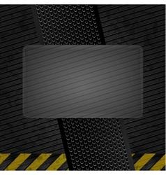 metallic grunge template iron sheet vector image