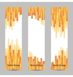 Set of vertical banners with yellow stripes vector