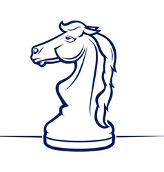 Chess horse vector