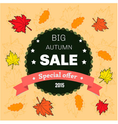 Autumn sale floral poster vector