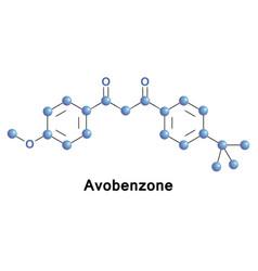 Avobenzone butyl methoxydibenzoylmethane vector