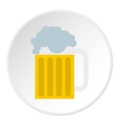 Beer mug icon flat style vector image