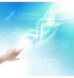 Biochemistry infographics vector image