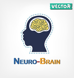 Brain neurological symbol vector