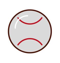 Brightly baseball cartoon vector