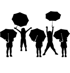 child with umbrella vector image vector image