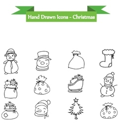 Christmas set element icons vector