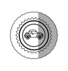 figure star emblem sport car side icon vector image vector image