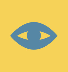 Flat icon puffy eye vector