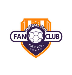 football team or soccer sport game club badge vector image