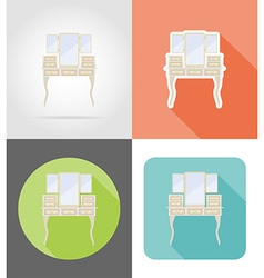 Furniture flat icons 14 vector