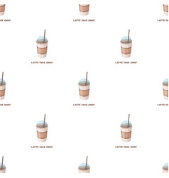 Latte for take-awaydifferent types of coffee vector