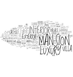 mansion word cloud concept vector image