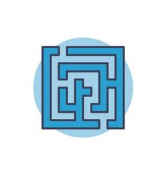 maze colorful icon vector image vector image