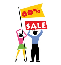 Retail Sale Sign vector image vector image