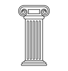 Roman column icon outline style vector image