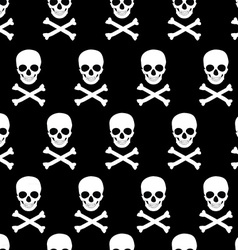 Skull and crossbones pattern vector image vector image