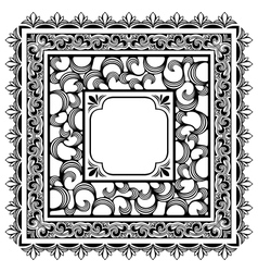 square borders vector image vector image