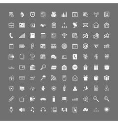 100 universal web icons set vector image