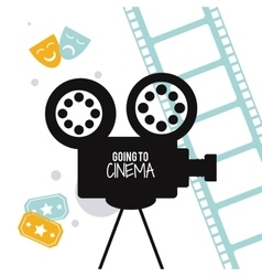 video camera movie film cinema icon vector image