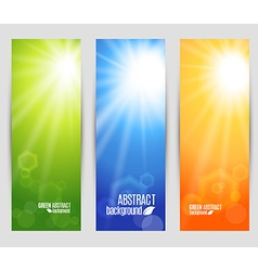 Colors set banners of shine vector