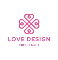 Love heart sign design template logo flat style vector