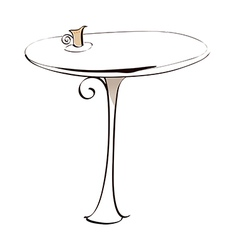 A table vector image