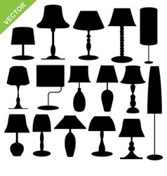 Silhouette lamp vector