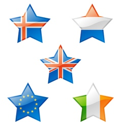 Flags star vector