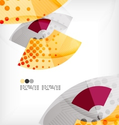 Semicircle geometric abstract background vector image