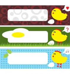 Chicken labels vector