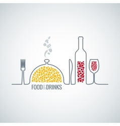 Food and drink background vector