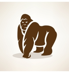 Gorilla stylized symbol isolated silhouette vector