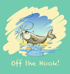 Idiom off the hook vector