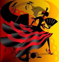 spanish dance vector image