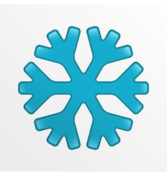 Snowflake icon blue creative on light gray vector