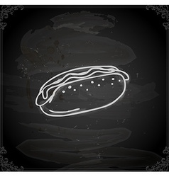 Hand drawn hotdog vector