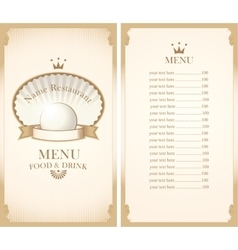 Enu for a cafe or restaurant vector