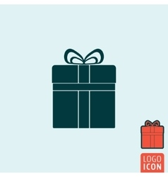 Gift icon isolated vector
