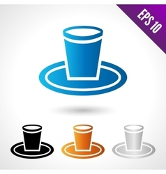 A disposable tableware saucer vector